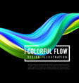 colorful flow design trending wave liquid vector image vector image