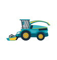 combine harvester isolated vector image vector image