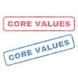 core values textile stamps vector image