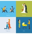 Creating a family Meeting wedding pregnancy vector image vector image
