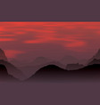 evening mountains and sunset vector image vector image