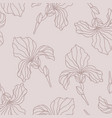 floral seamless pattern with iris flowers vector image vector image