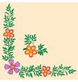flowers corner decoration vector image