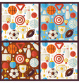 Four Flat Competition Sport Recreation Patterns vector image vector image