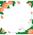 frame with floral ornaments in the slavic vector image
