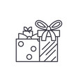 gift boxes line icon concept gift boxes vector image