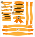 Halloween ribbon with pumpkin vector image vector image