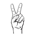 hand with two fingers up vector image