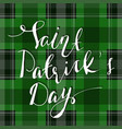 handwritten saint patricks day greetings vector image