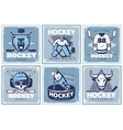 Hockey League Posters Set vector image