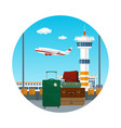 icon of travelers luggage at the airport vector image vector image