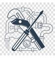 icon plumbing black vector image vector image