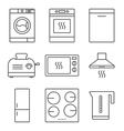 Kitchen appliance icons vector image vector image