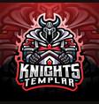 knights templar esport mascot logo