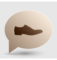 Men Shoes sign Brown gradient icon on bubble with vector image