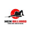 mens billiards sport modern logo vector image vector image