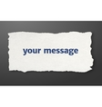 Message paper torn paper vector image vector image