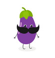 mister eggplant with mustache vector image