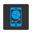 Mobile Graphs Icon vector image vector image