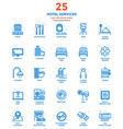 Modern Flat Line Color Icons Hotel Service vector image vector image