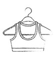 monochrome blurred silhouette shirt top for women vector image vector image