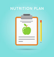 nutrition plan medical diet flat icon design diet vector image vector image
