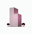 Pink buildings and trees vector image vector image