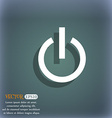 Power icon symbol on the blue-green abstract vector image