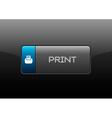 Print Button vector image