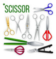 scissor set metal craft object cut tool vector image vector image