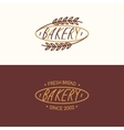 set linear bakery vector image
