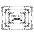 set of hand-drawn calligraphic vintage frames vector image