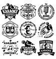 set of Karaoke labels badges vector image vector image