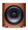 simple stereo speaker with no cover on a white vector image vector image