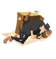 Sleeping beggar vector image