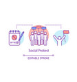 social protest concept icon public demonstration vector image vector image