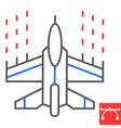 spaceship shooting color line icon video games vector image vector image