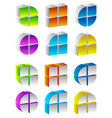 spatial colorful 3d shapes generic multicolor vector image