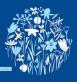 spring flowers round design scandinavian style vector image vector image