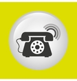 telephonic service design vector image vector image