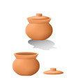 traditional asian clay pot in 3d mesh vector image vector image
