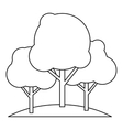 Trees icon in outline style vector image