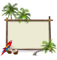 tropical resort frame vector image vector image