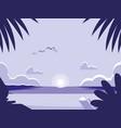 tropical seascape scene icon vector image vector image