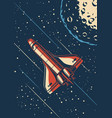 vintage space discovery poster vector image
