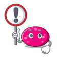 with sign ellipse character cartoon style vector image vector image