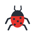 wonderful ladybug insect vector image