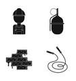 worker grenade and other web icon in black style vector image