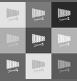 xylophone sign grayscale version of vector image vector image