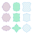 9 frames with geometric pattern vector image